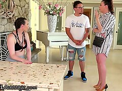 Married MILF First Time Massage With Lesbian Teen