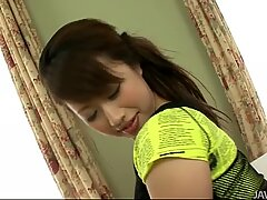 Flexible and sporty asian chick Kanae Serizawa gets pussy eating