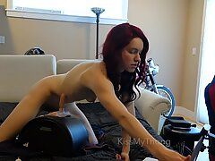Light railing of sybian on streamate until accidental unloading
