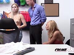 Super hot slutty blondes look like innocent girls but these thieves love to suck and bang fat cock.