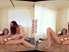 Yanks VR Stephie  s Squirt with Penny  s Help