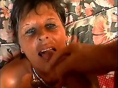 A milf gets the fuck from behind and isn't ready for the facial