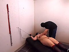 First Session with Sub T. - Part 5 orgasm while tickling