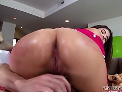 Facial chubby Nina North gets used and d