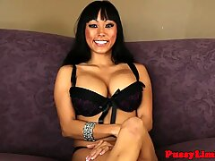 Bigtitted asian skank facefucked and pounded