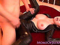 Throated asian milf pussy pounded
