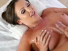 Sensational Yasmin drenched in oil and plowed - Aries Stone