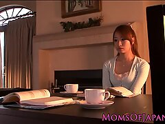 Japanese MILF eating a hairy teen pussy