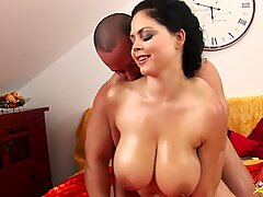 Busty Shione Cooper rough tit fucked